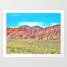 Paint The Hills Red Art Print