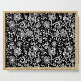 Wildflower Watercolor - Black Serving Tray