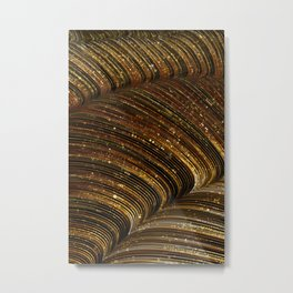 rox - abstract design rich brown rust copper tones Metal Print