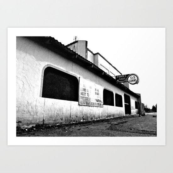 Empty pawn shop Art Print