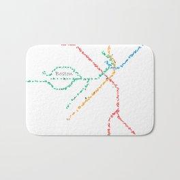 Boston Subway Map Art Bath Mat