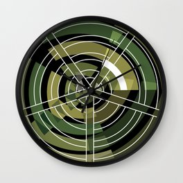 Exploded view camouflage Wall Clock