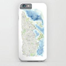 Toronto Canada Watercolor city map Slim Case iPhone 6s