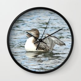 Baby loon all grown up Wall Clock