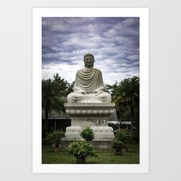 Budding Buddha Statue Buddist Temple Florida Art Print