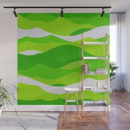 Waves - Lime Green Wall Mural