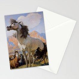 """Smokey Face"" Western Art by NC Wyeth Stationery Cards"