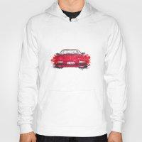 ferrari Hoodies featuring Ferrari Mondial by Claeys Jelle Automotive Artwork