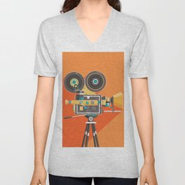 Cine: Orange Unisex V-Neck