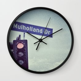 Mulholland Dr. Wall Clock