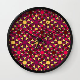 Spanish Director - Al-Nasir Pattern Red with Blue Lines Wall Clock