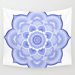 Periwinkle Mandala Flower Wall Tapestry