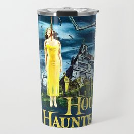 House on Haunted Hill, vintage horror movie poster Travel Mug