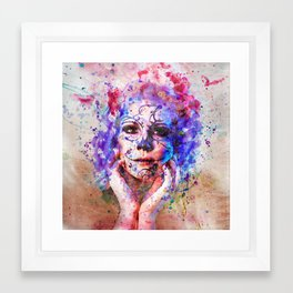 Sugar Skull splats Framed Art Print