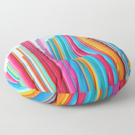 Colorful Rainbow Pipes Floor Pillow