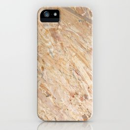 Wooden flakeboard industrial background iPhone Case