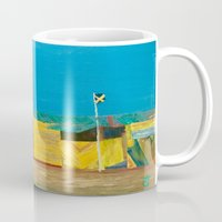 jamaica Mugs featuring Jamaica. Jamaican Blues by ANoelleJay