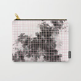 abstract watercolor pattern 01 // black white pink Carry-All Pouch