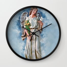 Angel Dove Wall Clock