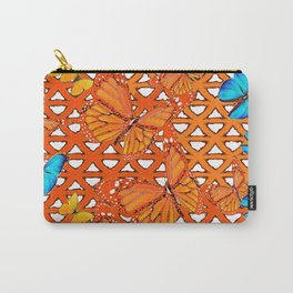 YELLOW BLUE ORANGE BUTTERFLY ABSTRACT WORLD Carry-All Pouch