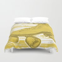 skate Duvet Covers featuring skate haven by Katy V. Meehan