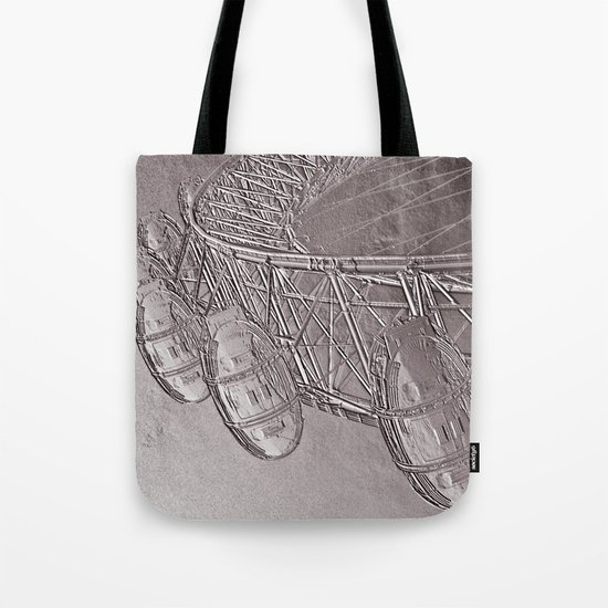 Embossed London Eye Tote Bag
