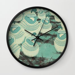 Quails III Wall Clock