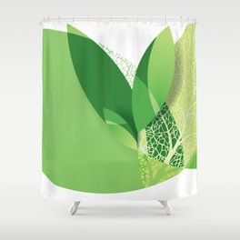 Modern green leaf, environment design Shower Curtain