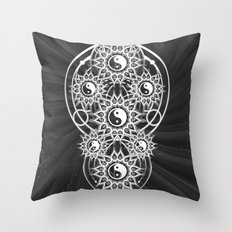 Seven Yin Yang Symmetry Balance Energy Throw Pillow