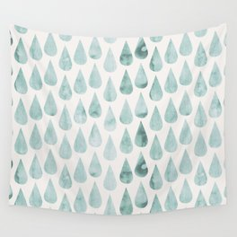 Drop water pattern Wall Tapestry