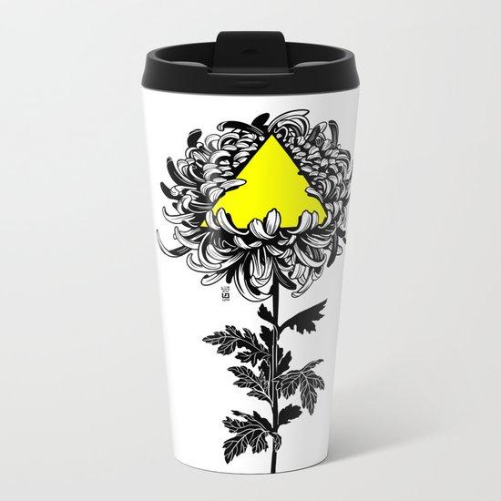 ChrysanThesis Metal Travel Mug