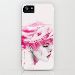 Head Up In The Clouds (pink ver.) iPhone Case