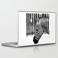 zebra Laptop & iPad Skins featuring Zebra by Regan's World