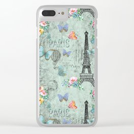 Paris - my love - France Eiffeltower Nostalgy- French Vintage Clear iPhone Case