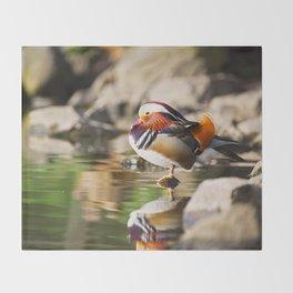 Mandarin Duck Throw Blanket