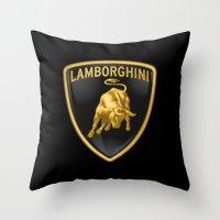lamborghini Throw Pillows featuring Lamborghini Logo by I Love Decor