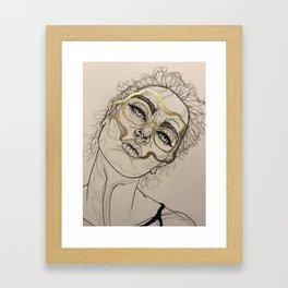 Golden loss Framed Art Print
