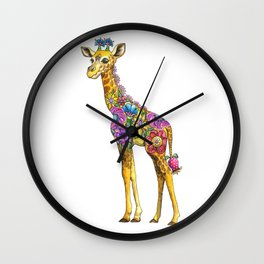 Geraldine the Genuinely Nice Giraffe Wall Clock