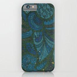 Yoga Mat - Namaste Paisley Leaf Pattern | Jewel Tone Blue Green Aqua Glitter iPhone Case