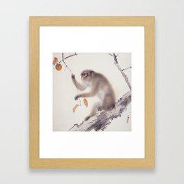 Monkey Vector After Hashimoto Kansetsu Framed Art Print