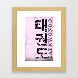 taekwondo poster fighter korean martial art sport Framed Art Print