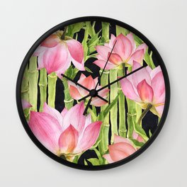 Tropical floral pattern #1 Wall Clock