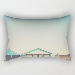beach hut roofs ... Rectangular Pillow