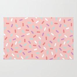 Pink Sprinkle Confetti Pattern Rug