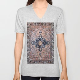 Sarouk  Antique West Persian Rug Print Unisex V-Neck