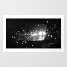Rain and Headlights Art Print