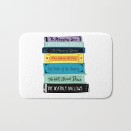 Hogwarts Stack of Wizardly Books Bath Mat