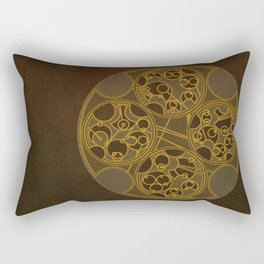 Tick-Tock Poem in Circular Gallifreyan Rectangular Pillow