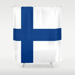 Flag of Finland - High Quality Image Shower Curtain