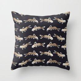 Leopard catfish Throw Pillow